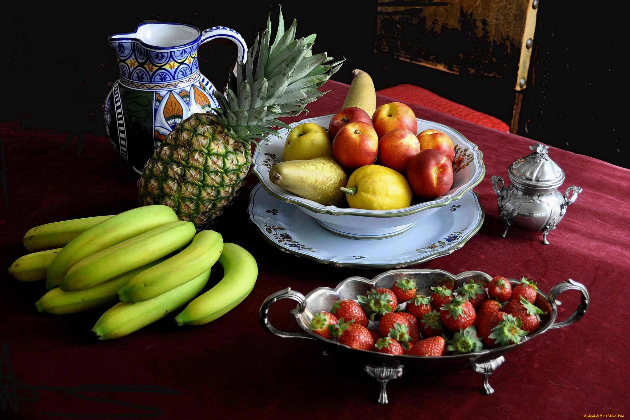 Посуда с фруктами картинки